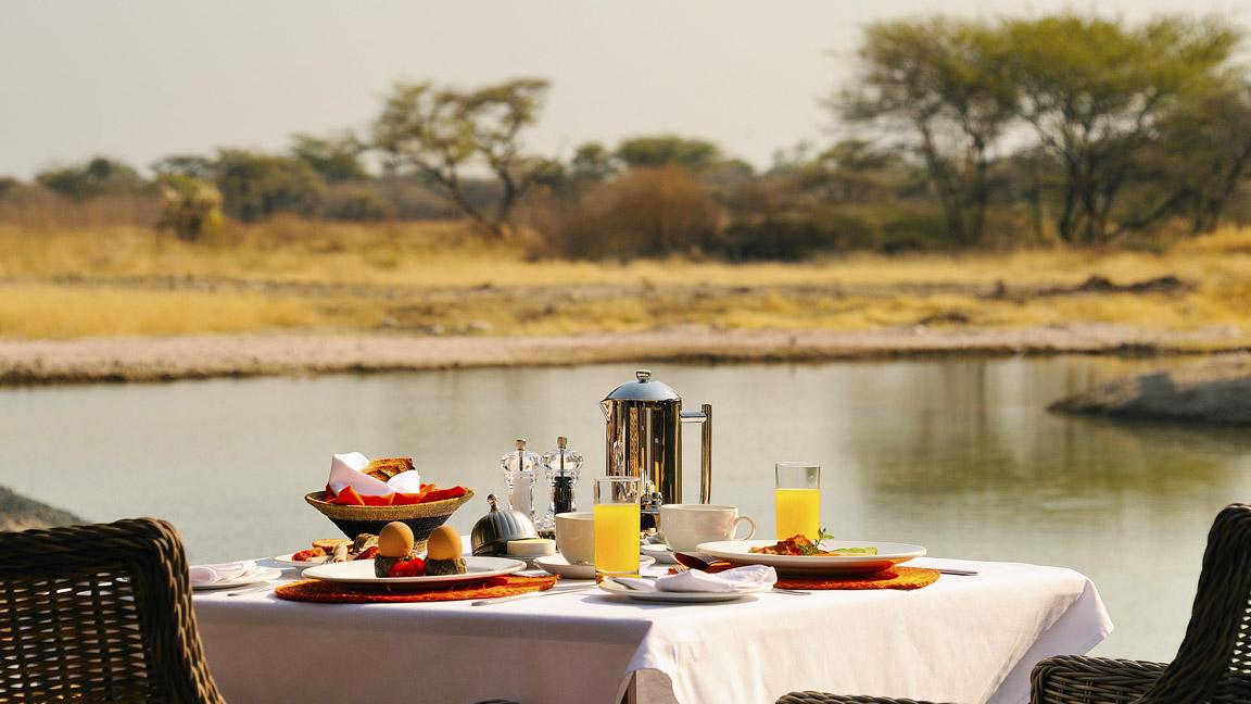 Frühstück in Namibia