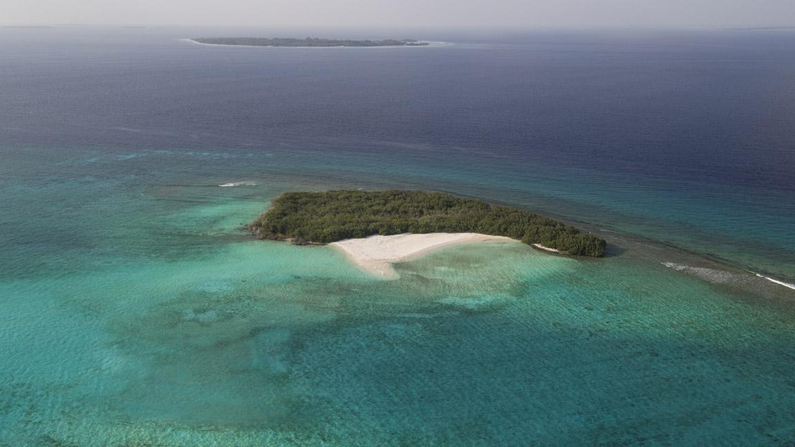 Luftaufnahme von Soneva Jani