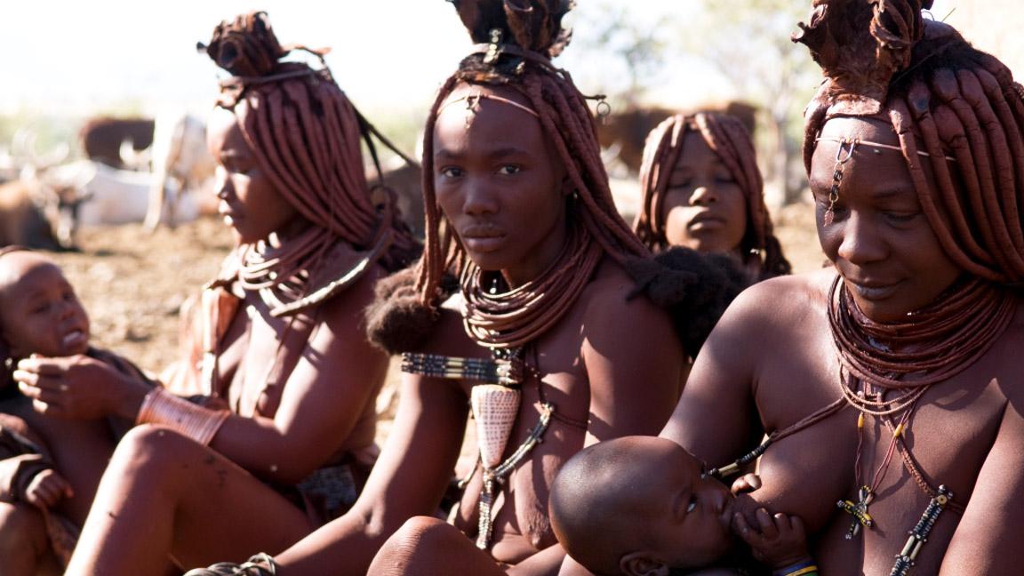 Ovahimbafamilie im Kaokoland