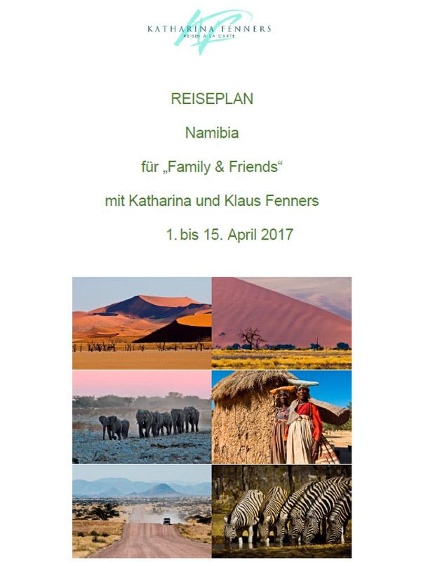 Reiseplan - Namibia - Special
