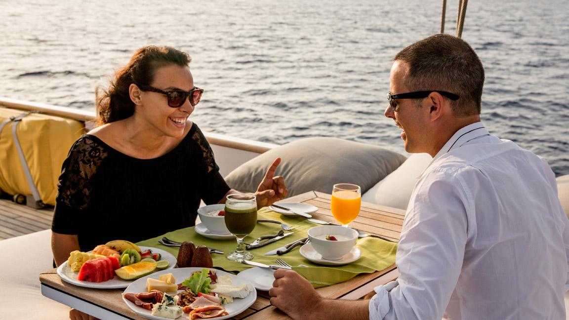 Soneva in Aqua - Frühstück auf See