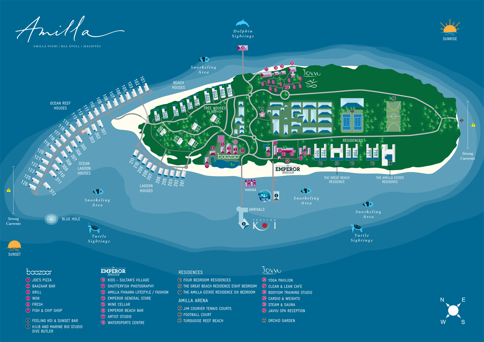Amilla Fushi - Inselkarte