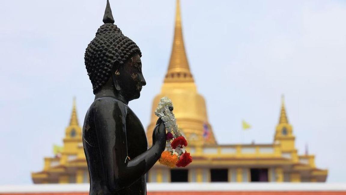 Bangkok-Wat-Saket auf Thailand Reise