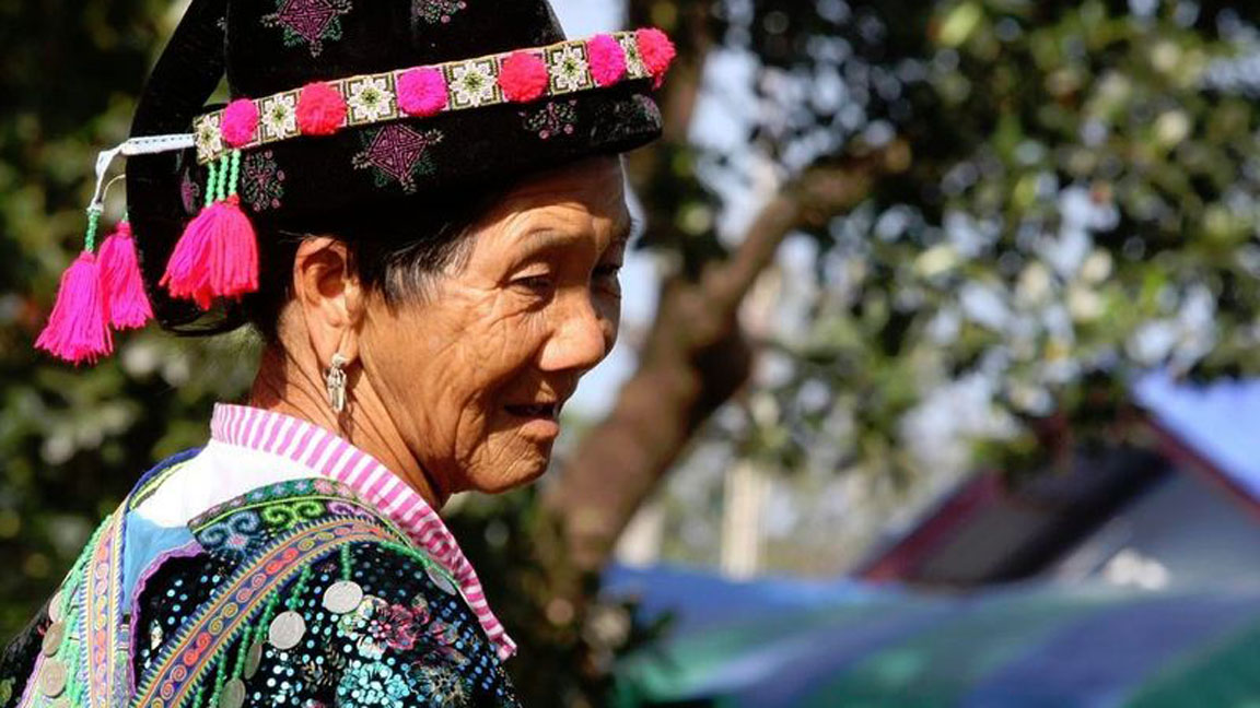 Alte Frau in Chiang-Rai auf Thailand Reise