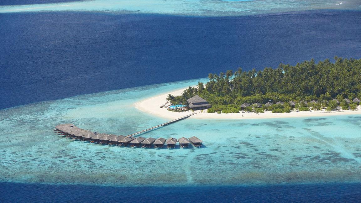 Filitheyo Island aus der Luft