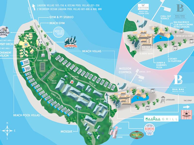 Finolhu - Inselkarte