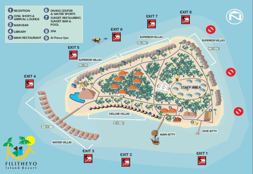 Filitheyo - Inselkarte