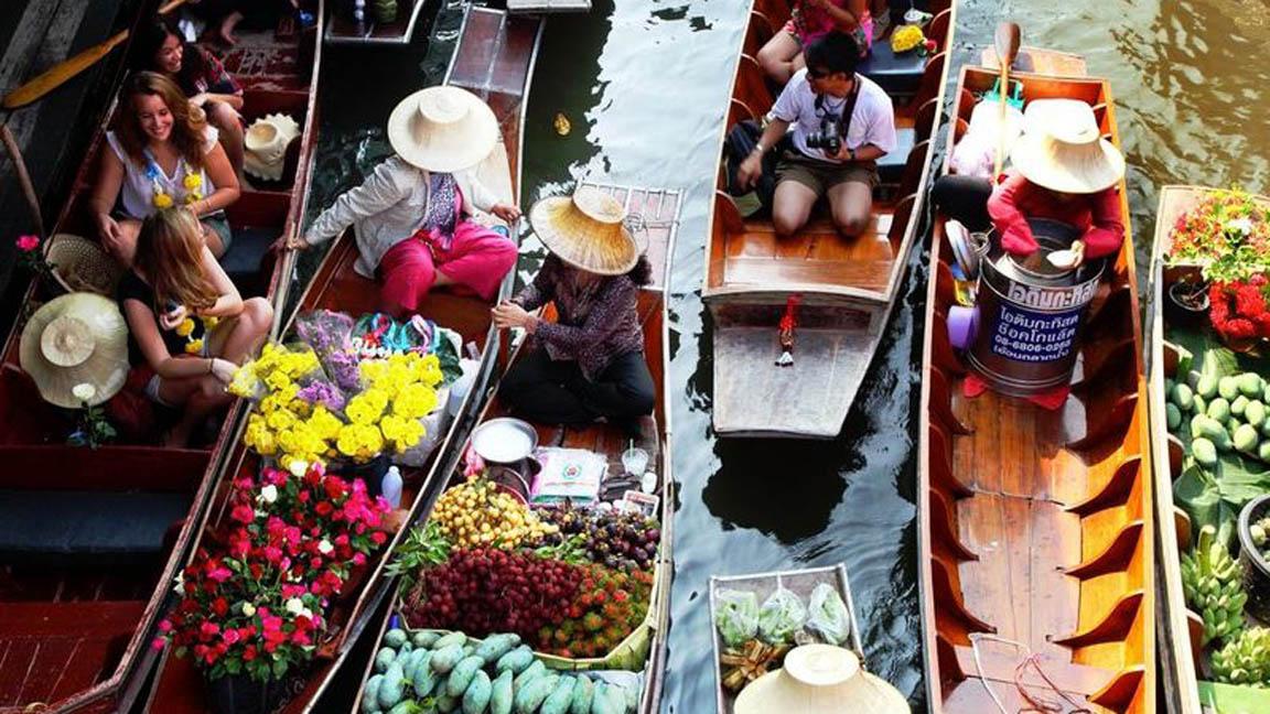 Marktbesuch auf Thailand Reise