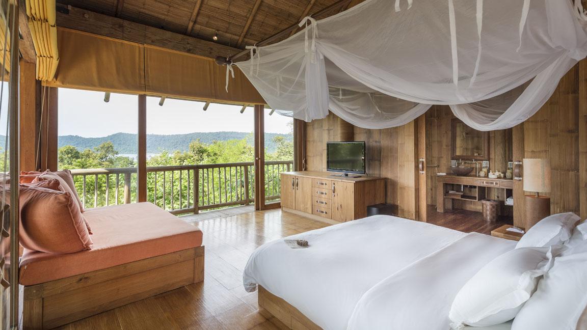 Soneva Kiri Private Cliff Pool Reserve Guest bedroom by Asit Maneesarn