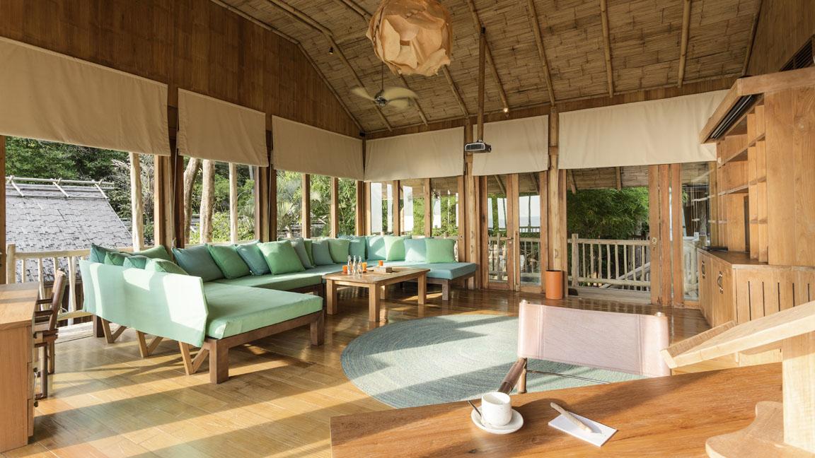 Soneva Kiri Private Cliff Pool Reserve - TV lounge by Asit Maneesarn