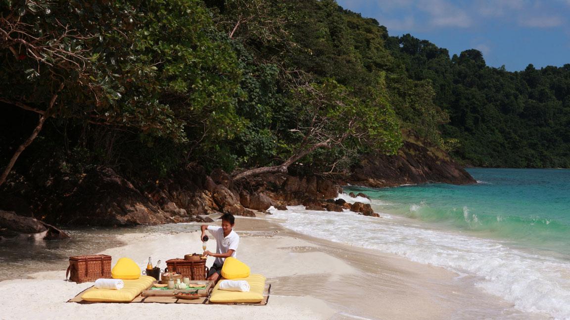 Soneve Kiri - Private Beach Picnic 1 by Cat Vinton