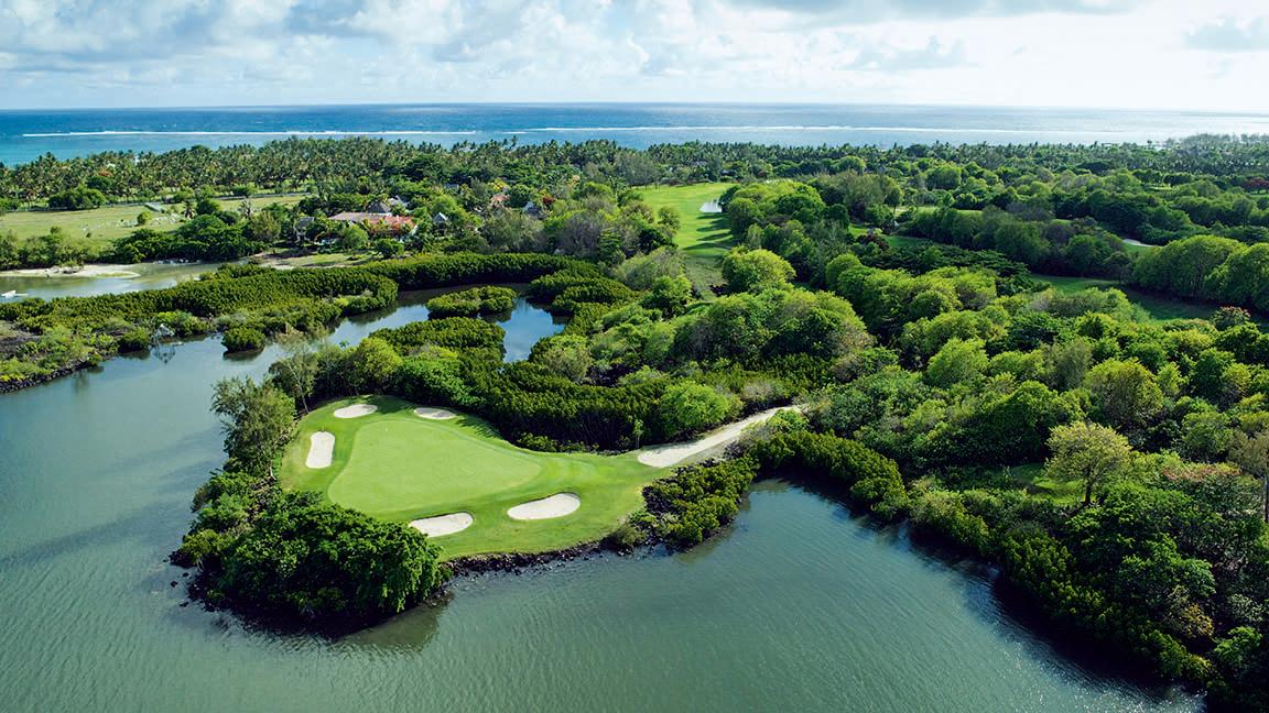 Constance Le Prince Maurice - Golfplatz aus der Luft