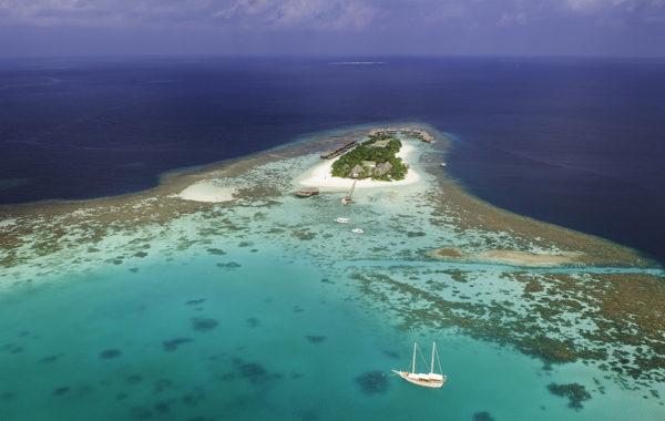 Mirihi Island Resort - Aus der Luft