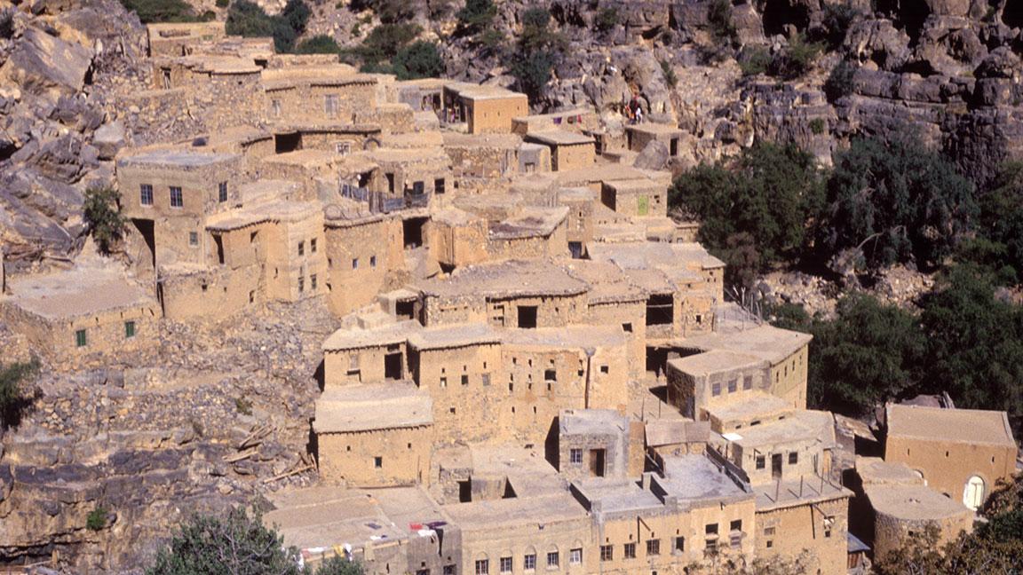Bergdorf im Hajar Gebirge Oman
