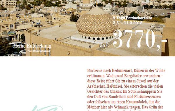Oman Entdeckungsreise - Broschüre
