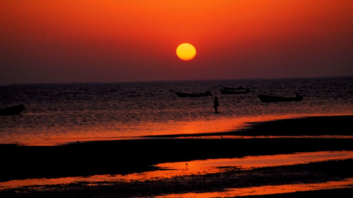 Sonnenuntergang vor Küste von Oman