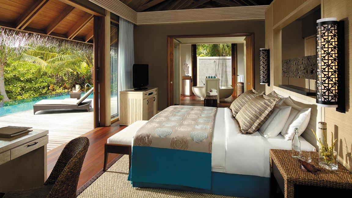 Shangri-La's Villingili Resort & Spa - Beach-Villa Zimmeransicht