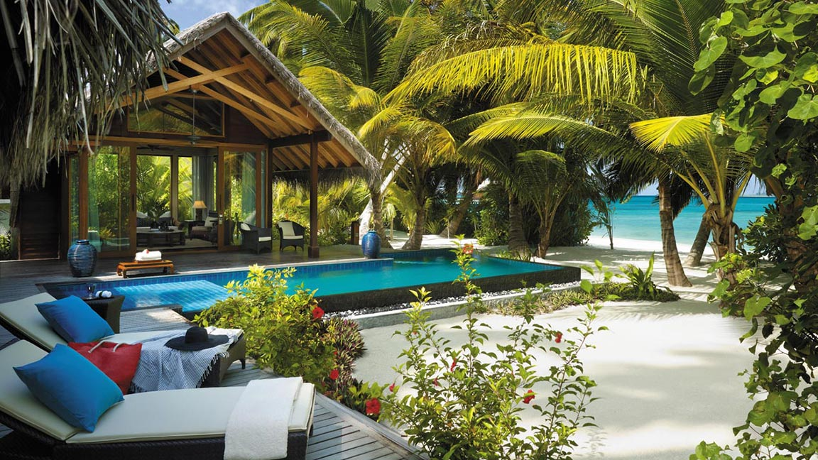 Shangri-La's Villingili Resort & Spa - Beach-Villa mit privatem Pool