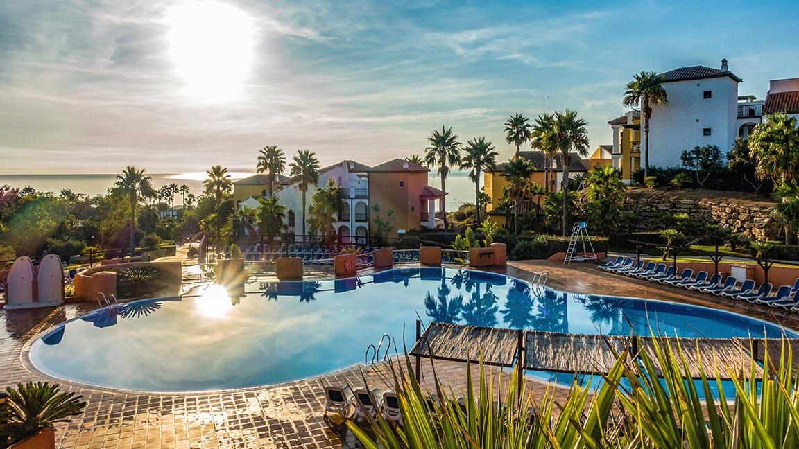Aldiana Club Costa Del Sol vor Sonnenuntergang
