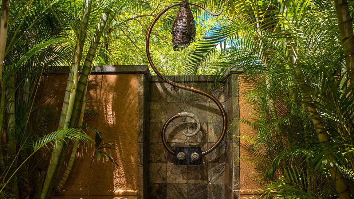 Shanti Maurice - Double Suite Villa - Outdoor Shower