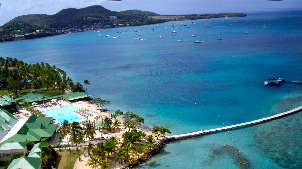 Club Med - Martinique aus der Luft
