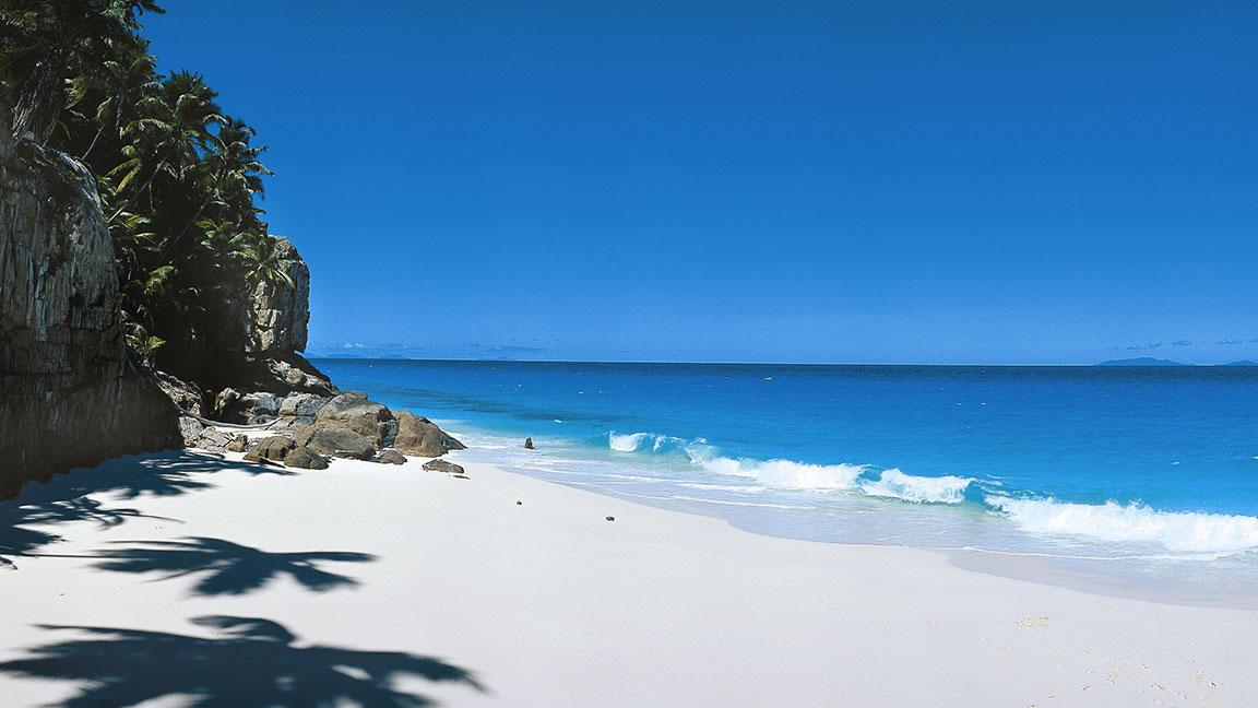 Fregate Island Private weißer sandstrand