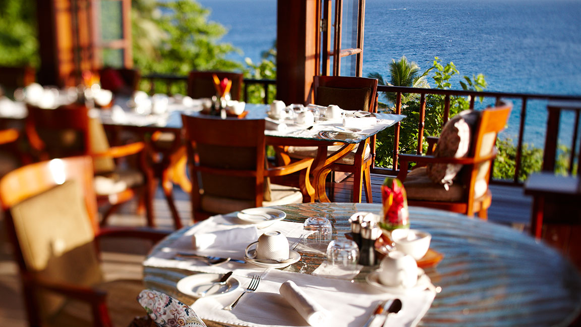 Fregate Island Private restaurant
