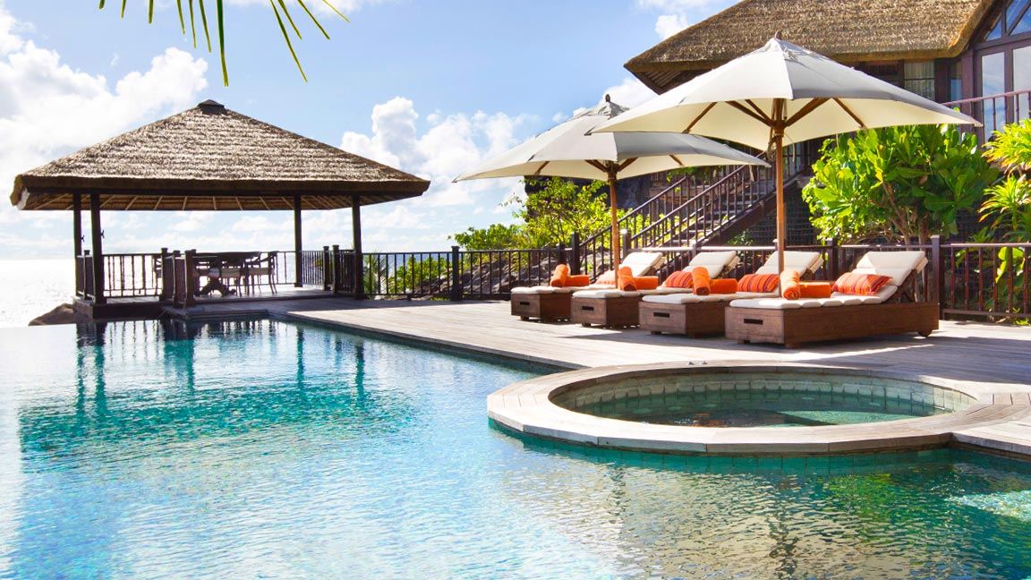 Fregate Island Private Poolansicht