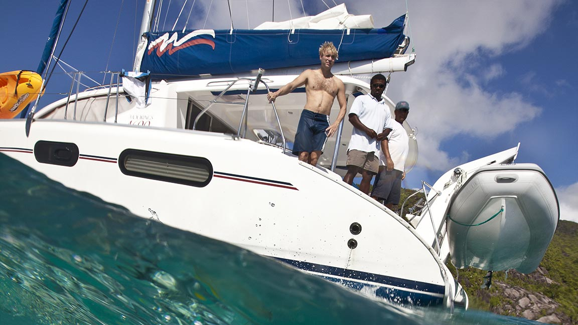 Crewed Yacht Chatter in den Seychellen