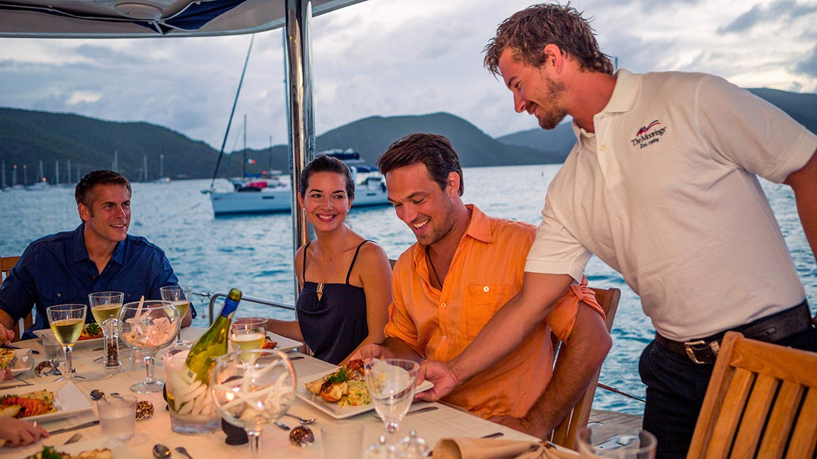 The Moorings Yacht dinner