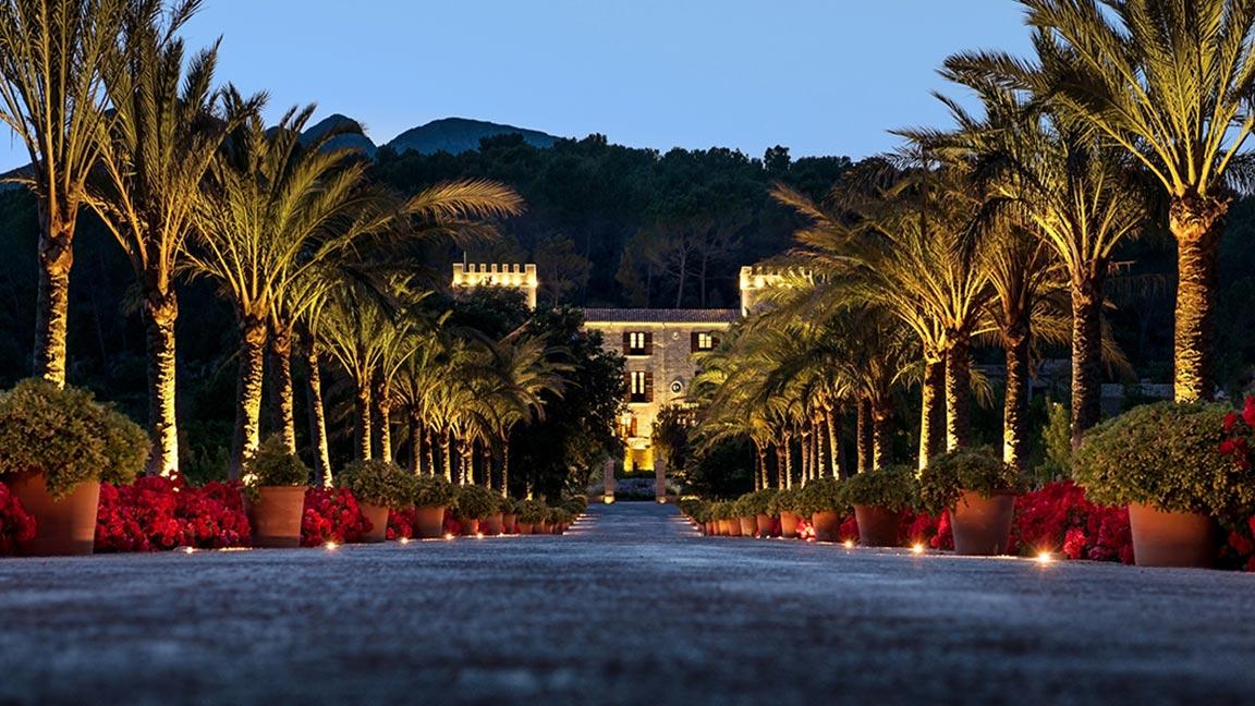 Castell Son Claret - Bei nacht