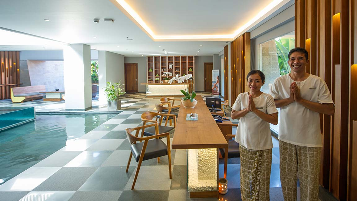Maya Sanur Resort & Spa Wilkommen