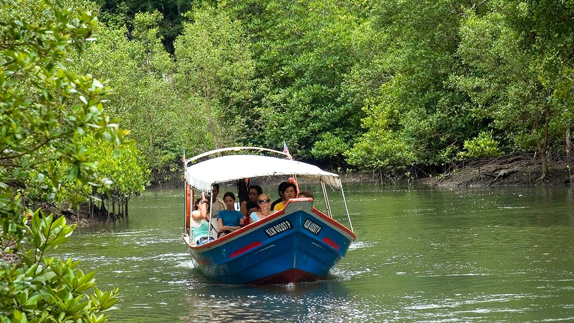 Bootsausflug auf dem Klim River während Malaysia Reise