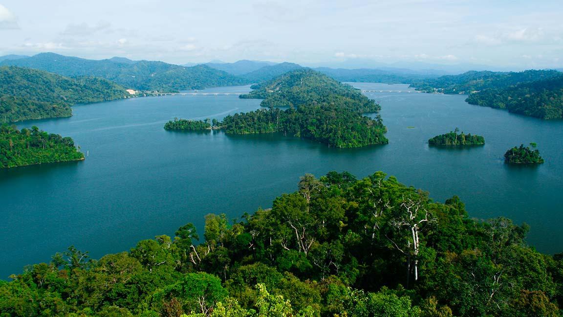 Luftbild auf die Inseln Malaysias