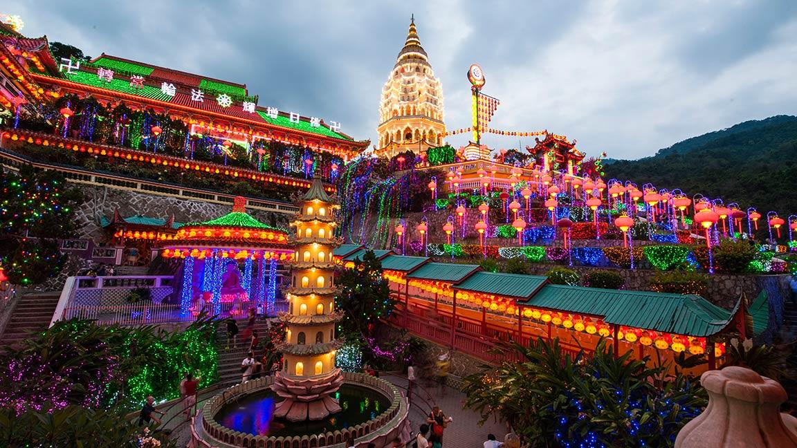 Tempel Kek Lok Si in Penang in Malaysia