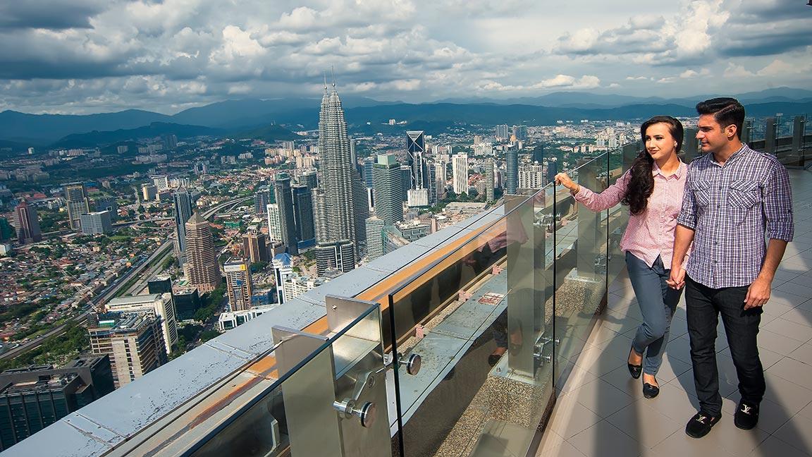 Malaysia Reise Menara Kuala Lumpur Tower in Kuala Lumpurr