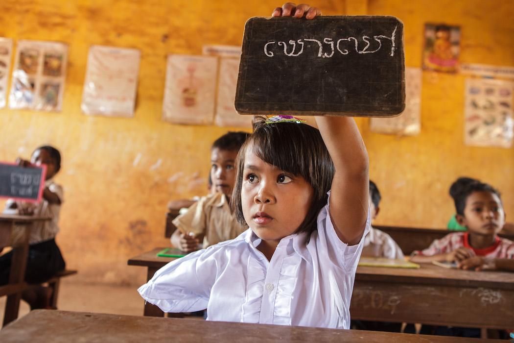 Kind mit Behinderung in Asien in Schule