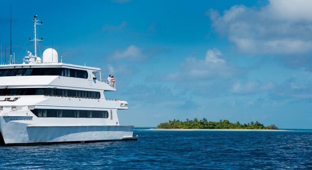 Katamaran auf den Malediven