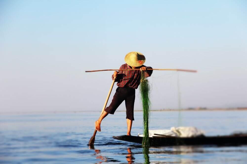 Fischer in Asien bei Myanmar Reise