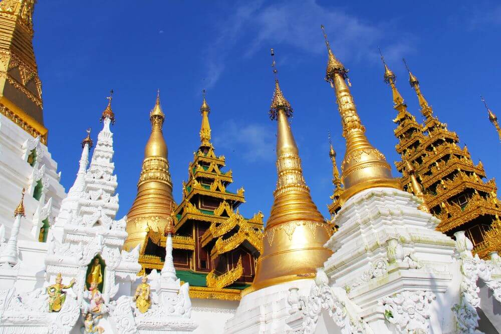 Pagoden während Myanmar Reise