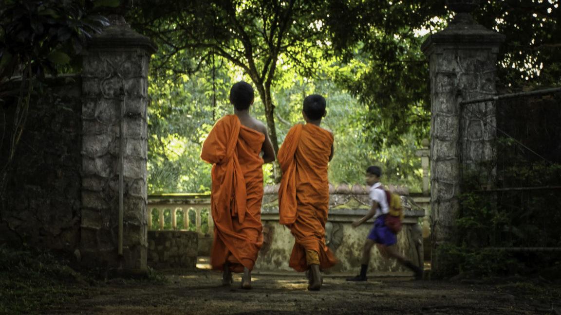 Mönche auf Sri Lanka Reise