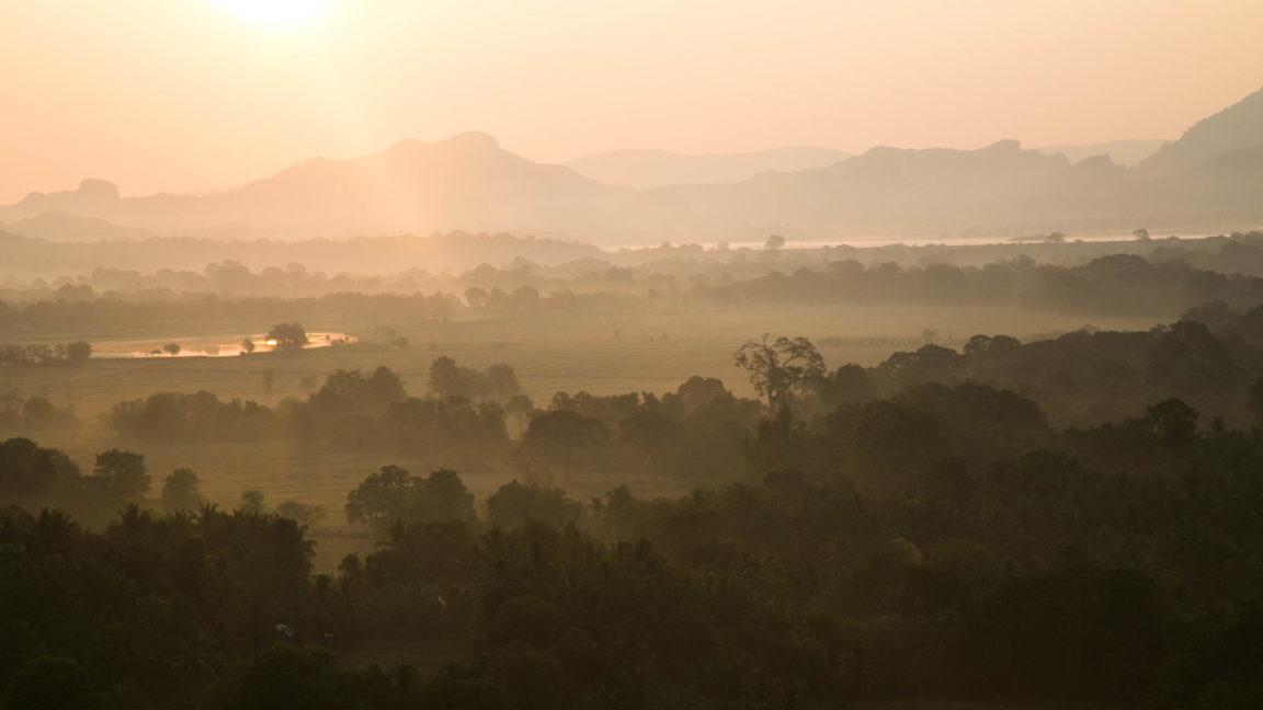 Mogenlicht auf Sri Lanka