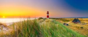 Sylt, Ellenbogen, Strand mit Leuchtturm