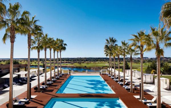 Pool und Golfplatz, Hotel Anantara Vilamoura, Algarve, Portugal