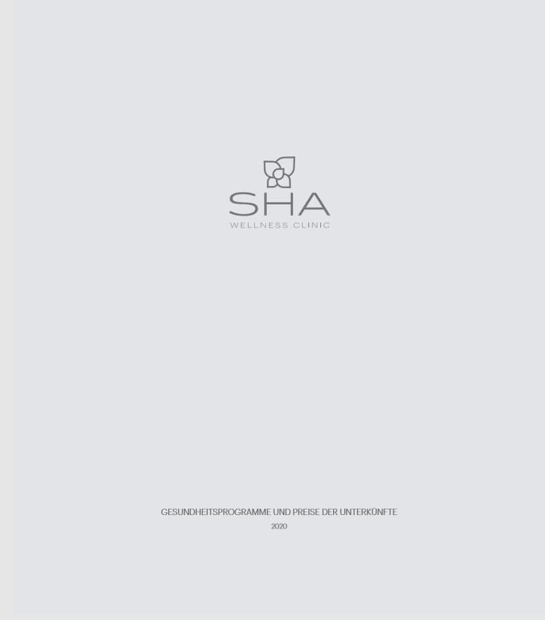 SHA Wellness Clinic Gesundheitsprogramme