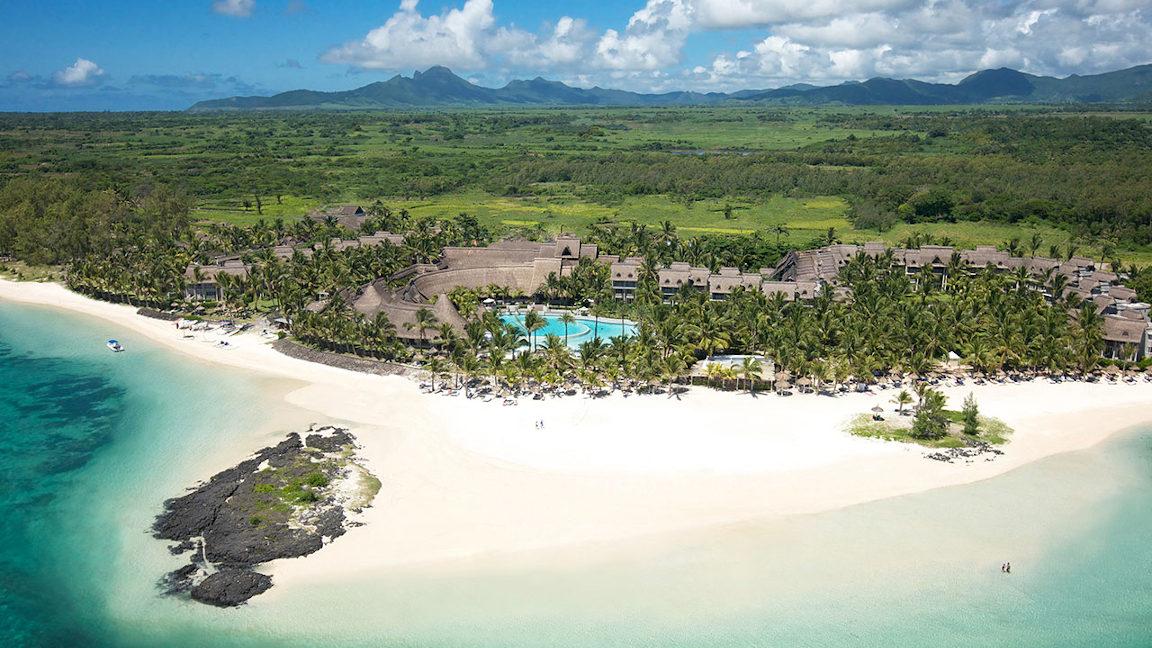 Luftbild LUX* Belle Mare Resort & Villas, Mauritius