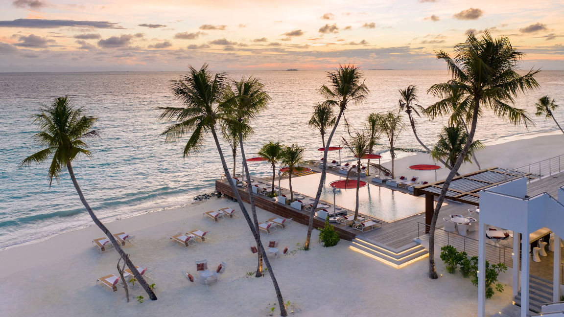 Sonnenuntergang - Nord Male Atoll Strand