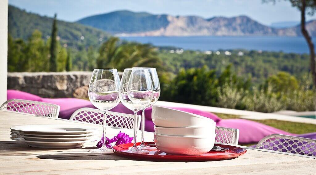 Villa Agnes auf Ibiza, Dinnerausblick