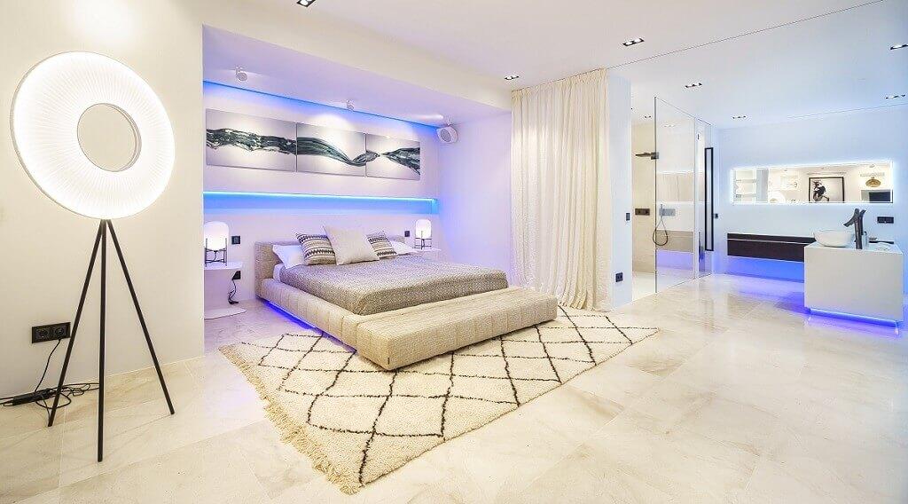Villa Blanca auf Ibiza, Scchlafbereich