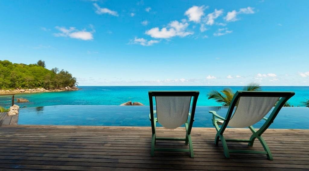 Blick auf das Meer von der Villa Sea Monkey aus.